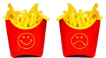 Fast food fries happy sad