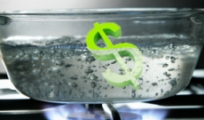 Boiling water with dollar sign