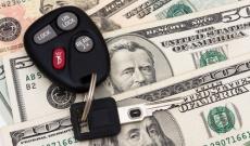 Car keys on money