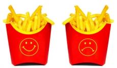 Fast food fries happy sad