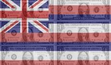 Hawaiian state flag with dollars
