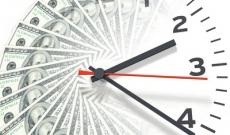 dollars over half a clock