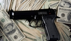 handgun on cash money