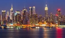 Manhattan skyline in New York