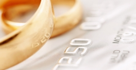 Wedding bands and credit card