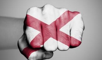 Fist Alabama state flag
