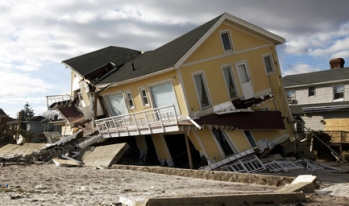 Hurricane Sandy destroyed house