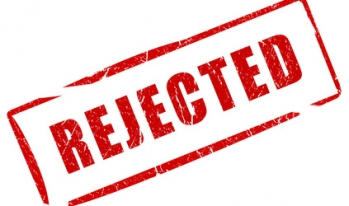 """Stamped word showing """"Rejected"""""""