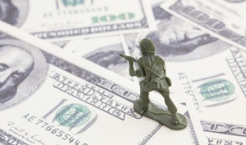 army man on top of dollars