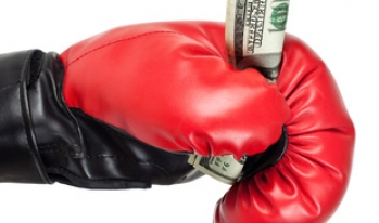 boxing glove with money