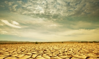Dry and cracked desert ground
