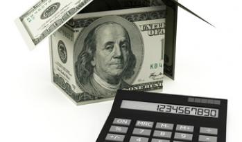 hundred dollar bill house and calculator
