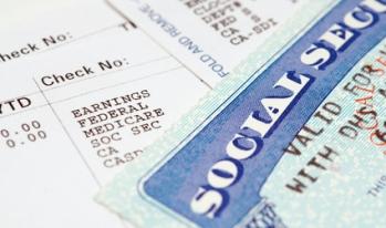 social security card on bills
